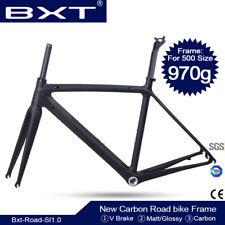 Full Carbon Road Bike Frame BSA Carbon Bicycle Frameset glossy matt 50/53/55CM