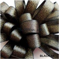 Berisfords Glitter Satin Ribbon 10 Colours, 3 Widths 4 Lengths