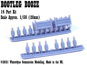 O/On30/1:48/28mm/32mm Scale Bootleg Booze, Bottle, Scenery, Terrain, Wargames