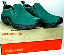 Merrell Women's Jungle Moc size 7.5M Green Suede Slip On WH37 FW560