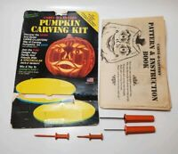 Vintage Pumpkin Carving Set with Patterns