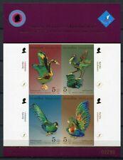 Thailand 2007 Vogelfiguren Kunsthandwerk Crafts Birds Block 214 B Imperf MNH