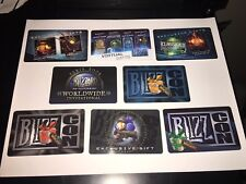 USED Blizzard Blizzcon game loot cards 2005 2007 2008 2009 2010 2011 2013 Paris