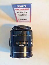 Minolta 50mm f2.8 AF Macro Lens Excellent