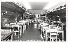 Tennessee TN Postcard RPPC c1950 MARYVILLE Gilbert's NOAH'S ARK Restaurant