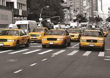 Ciudad de Nueva York Taxis Amarillo Papel Pintado Foto Mural Pared 335x236cm