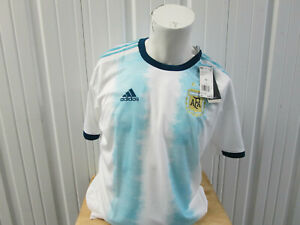 adidas ARGENTINA NATIONAL MEN'S TEAM 2XL SEWN HOME JERSEY 2019/20 KIT NEW W/ TAG