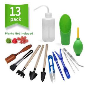 13PCS Succulent Tools Set, Mini Garden Hand Tools Set for Indoor MiniatureCWSJ