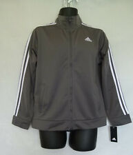 Adidas Boy's Black w/ 3 White Stripes Athletic Track Jacket Size XL 18/20
