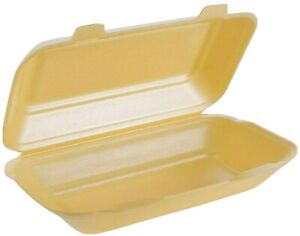 125 x Polystyrene Foam Food XtraLarge Containers HB10 Gold Takeaway Box Hot Cold