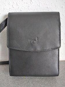 VOI Handtasche Damen Umhängetasche Bag Leder Schwarz