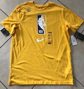 Nike Men NBA League Logo Dri-Fit Team 31 T-Shirt AT0515 729 Yellow Purple Lakers