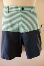 HURLEY MENS DRI FIT DRIVER WALK SHORTS NEW SIZE 38 SLIM FIT GREEN PANTS BEACH