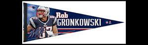 Rare 2012 ROB GRONKOWSKI New England Patriots Premium Felt Collector's PENNANT