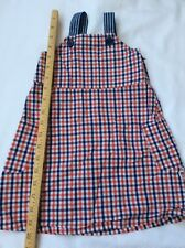 Baby Gap Patriotic Dress Red White Blue Check 2 2T