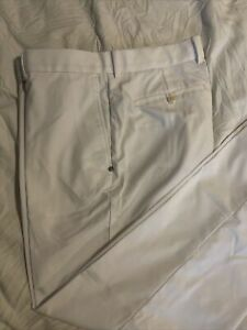 $128 Ralph Lauren Men Golf Pants White Men's Size 34 X 32 Pre Owned
