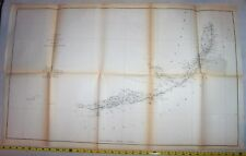1861 FLORIDA Coast Survey ; Keys Tortugas Key West Bahia Honda Key Biscayne Bay
