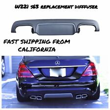 2010-12 MERCEDES BENZ MBZ W221 S63 REAR BUMPER REPLACEMENT PLASTIC DIFFUSER