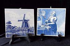 Delft Plateelbakkerij TILE WALL PLAQUES The Cook & Windmill