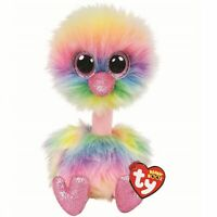 Ty Beanie Babies 36448 Asha the Pastel Ostrich Boo Buddy