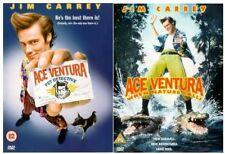 ACE VENTURA PET DETECTIVE & WHEN NATURE CALLS 1 & 2 Jim Carrey Comedy UK R2 DVD