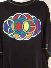 Coogi Logo Black XXXL Short Sleeve Tee T-Shirt 3XL Multi Color Logo Rare
