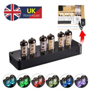 IV-11(ИВ-11) Nixie Tube Alarm Clock VFD Display Date/Temp/ Alarm/Remote DIY KIT