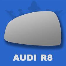 Audi R8 07-14 Flat Wing Door Mirror Glass For Left Passenger Side