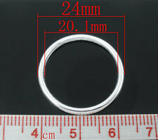 50 New 24mm Silver Plated Closed Jumprings Metal Large Jump ring Curtain 2.4cm