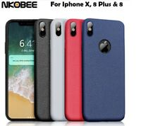 For iPhone X 10 8 Plus 8 New Ultra Thin Slim Soft Rubber Silicone Case Cover