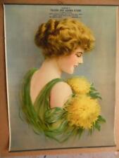 c.1910 Toledo Dry Goods Store Pinup Girl Calendar Providence R.I Antique ORIG.