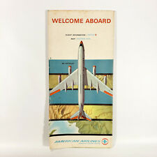 1965 American Airlines Route Map Brochure 707 727 Astrojet Vintage Air Travel