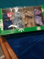 COLLECTOR'S CLUB TY BEANIE BABIES CLUBBY EDITION JINGLE BEANIES COLLECTION