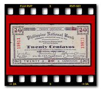 SCARCE PHILIPPINES NEGROS OCCIDENTAL 20 CENTAVOS Series 1941 P-S622 WWII