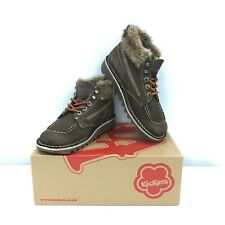 Kickers Shoes Size UK8 EU41 High Tops Brown Laced Faux Fur Women's Casual 291846