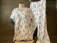 Secret Treasures Women's FLAMINGO  Pajamas Top & Capris NWT REGULAR / PLUS