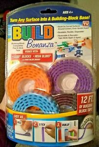 BUILD BONANZA Block Peel & Stick Tape Works with LEGO® & Mega® blocks Fast Ship