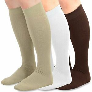 TeeHee Men's Bamboo Dress Over the Calf Socks Assorted Color 3-pack Solids