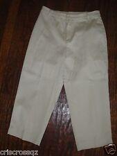 BRIGGS New York * BEIGE Ivory STRETCH CAPRIS Cropped Pants * sz 6 * worn 1x *