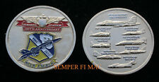 *# BLUE ANGELS 2012 US NAVY MARINES AVIATION 100th CHALLENGE COIN USS F18 HORNET