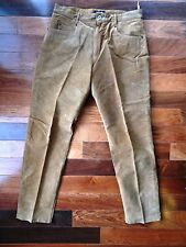 FOR JOSEPH Womens SIZE 14 BROWN SUEDE Leather PANTS