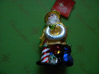 Christopher Radko Seaboard Santa Glass Ornament