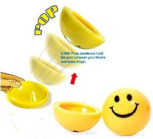 Smiling Happy Smile Face Dome Poppers Party Bag Fillers Fete Fayre Prizes Toys