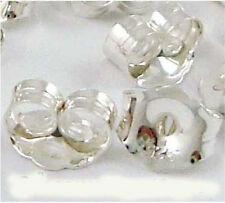 50 Medium 5x4mm Sterling Silver Earring butterfly ear backing  nutz clutch E40