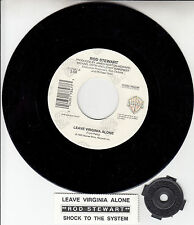 "ROD STEWART Leave Virginia Alone 7"" 45 rpm vinyl record + juke box title strip"