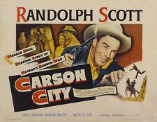 Carson City Randolph Scott western movie poster print