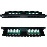 "QUALITY AT 16 Port/Way CAT5e Gigabit Patch Panel -1U 19"" Rack Mount-RJ45 Network"