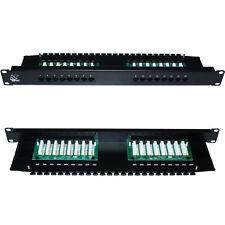 "QUALITY AT 16 Port/Way CAT5e Gigabit Patch Panel -1U 19"" Rack Mount-RJ45 Network"