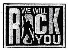 Patche écusson we will rock you insigne patch DIY brodé rocker combat jacket