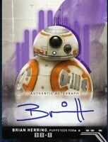 Topps Star Wars Card Trader ROS Purple Brian Herring BB-8 Signature 150cc